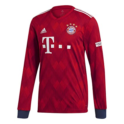 84470eeb71f Amazon.com : adidas 2018-2019 Bayern Munich Home Long Sleeve Shirt ...