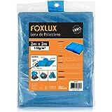Lona de Polietileno Foxlux – Azul – 2M x 2M – 150 micras – Lona plástica com ilhós – Impermeável – Multiuso