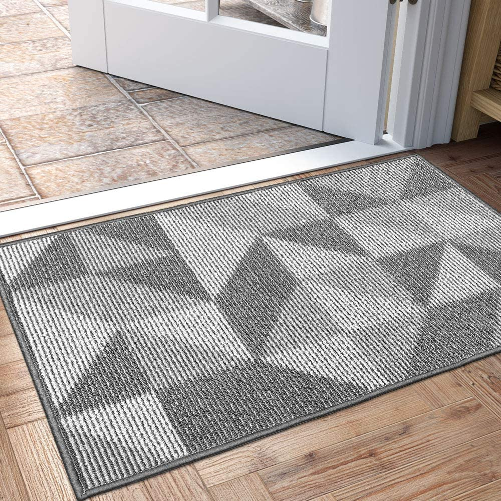 "DEXI Indoor Doormat, Non Slip Absorbent Resist Dirt Entrance Rug, 20""x32"" Machine Washable Low-Profile Inside Floor Door Mat"