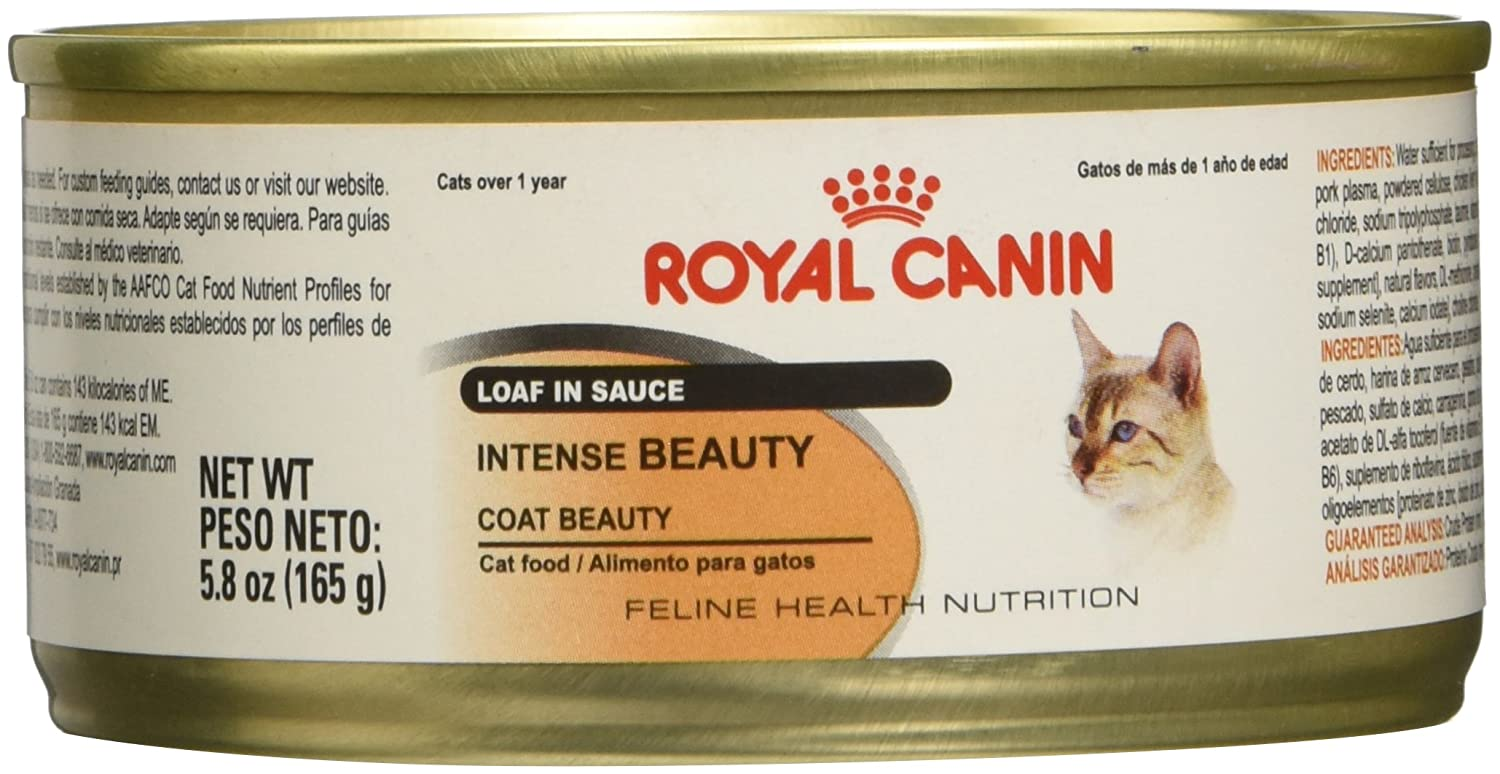 Amazon.com : Royal Canin Feline Health Nutrition Intense Beauty Loaf In Sauce Wet Cat Food, 3 oz., Case of 24 : Pet Supplies