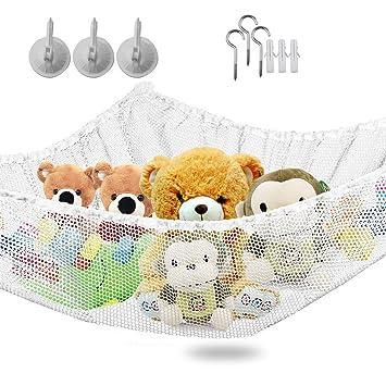 Large Toy Soft Teddy Hammock Mesh Child Kids Bedroom Ball Storage Nursery Net