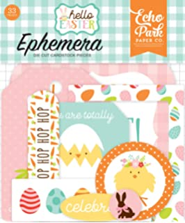 Teal Yellow Green Brown Orange Echo Park Paper Company Easter Wishes 6x13 Accents chipboard Pink