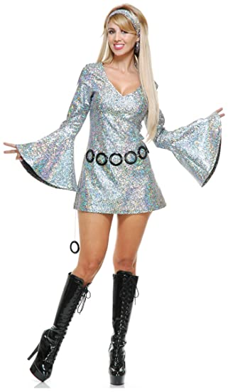 Hippie Costumes, Hippie Outfits Sparkle Diva Disco Costume $29.69 AT vintagedancer.com
