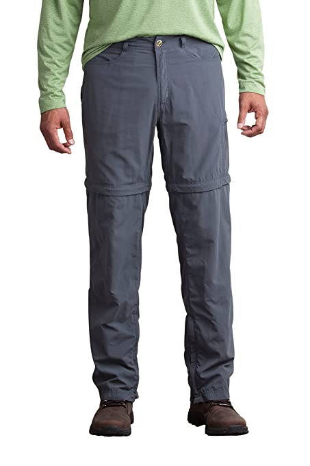 8e652f4a ExOfficio Men's BugsAway Sol Cool Ampario Convertible Pant, Dk Pebble, 34
