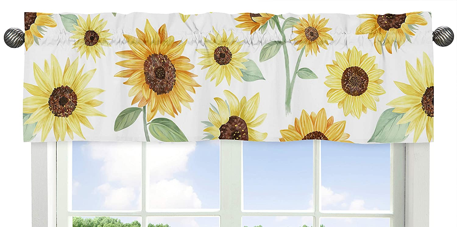 Sunflower Check Lined Valance