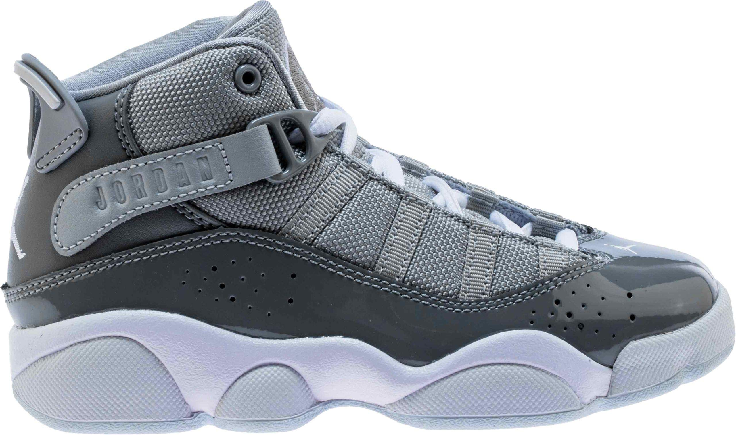 Jordan 6 Rings Cool Grey/White-Wolf Grey (PS) (3 M US Little Kid)