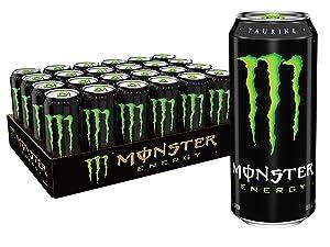 Monster Energy Drink, 16 Fluid Ounce (Pack of 24)