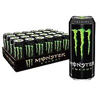 Monster Energy Drink, Green, Original, 16 Ounce (Pack of 24)