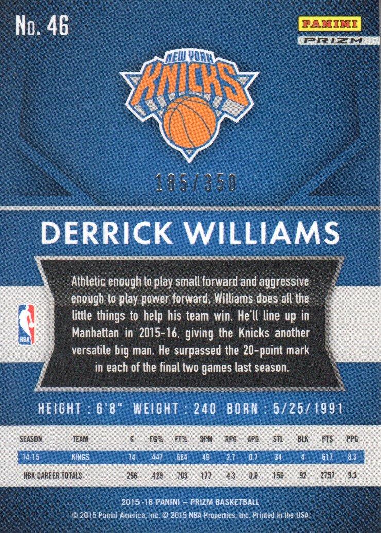 2015-16 Panini Prizm Basketball Prizms Ruby Wave #46 Derrick