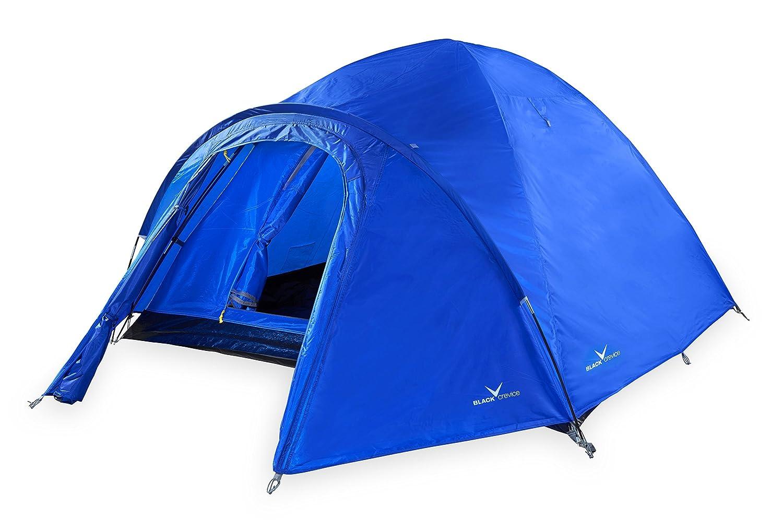 schwarz Crevice Zelt für 3 Personen 205x205x120 cm