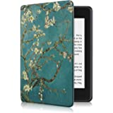 ProElite Slim Smart Flip case Cover for All Amazon Kindle 10th Generation 2019 [Flowers] (Not Fit Paperwhite)