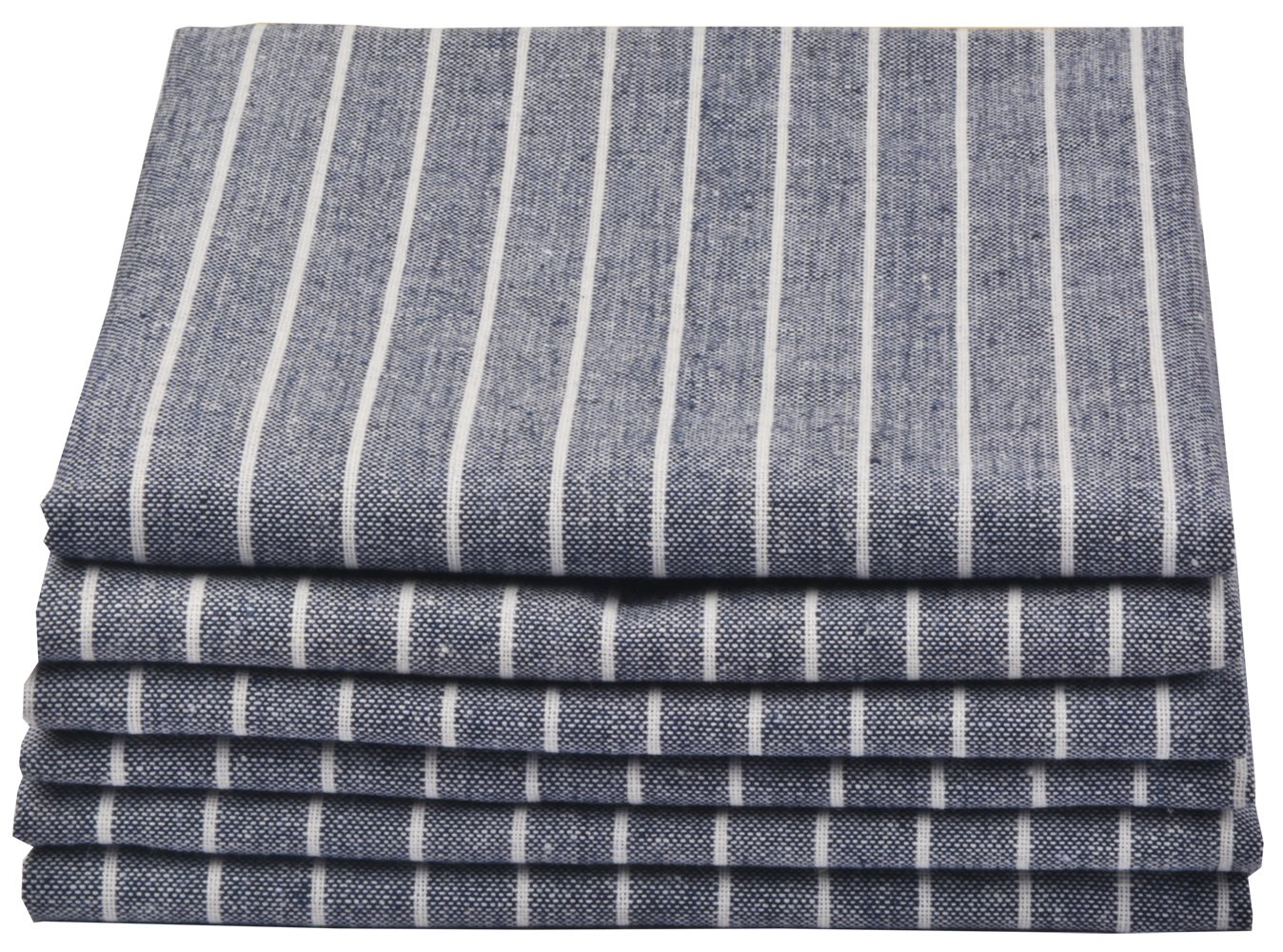 Sinland Linen Napkins Oversized Dinner Napkins Tailored with Mitered Corners and a Generous Hem 20Inch x 20Inch 6 Packs (Grey Blue)