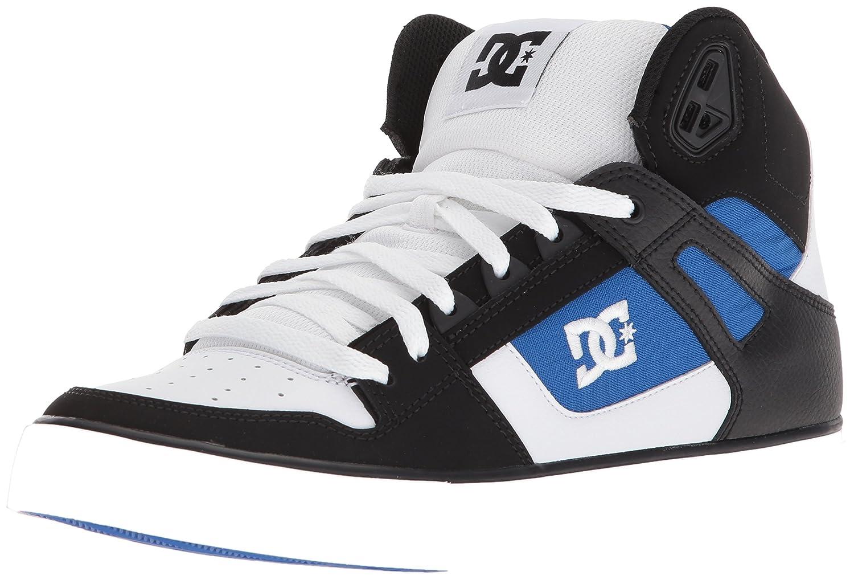 DC Men's Pure High-Top Wc Skate Shoe 18 D(M) US|White/Blue/Black