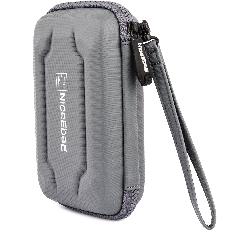 NiceEbag EVA Portable Electronics Accessories Carrying Storage Case Power Bank USB Data Cords Multiple External Hard Drive Healthcare Grooming Kit Travel Bag (Grey) by NiceEbag (Image #8)