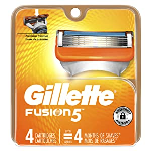 Gillette Fusion5 Men's Razor Blades, 4 Count