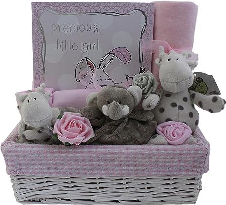 Cesta de regalo para bebé niña con caja de recuerdo regalo para ...