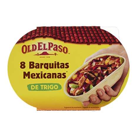 Old el Paso Barquitas Mexicanas, 8 Tortillas - Pack de 8 x 24 g -