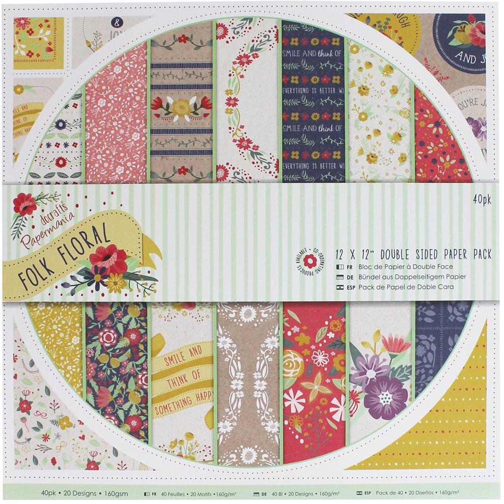 30%OFF Papermania 12 x 30,48 cm cara doble fijación Pack de papel ...