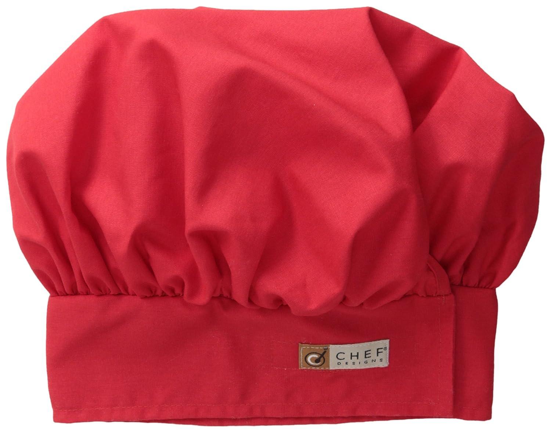 Chef Designs Men's Chef Hat Red Kap Chef DesignsChef Hat Black Large HP60