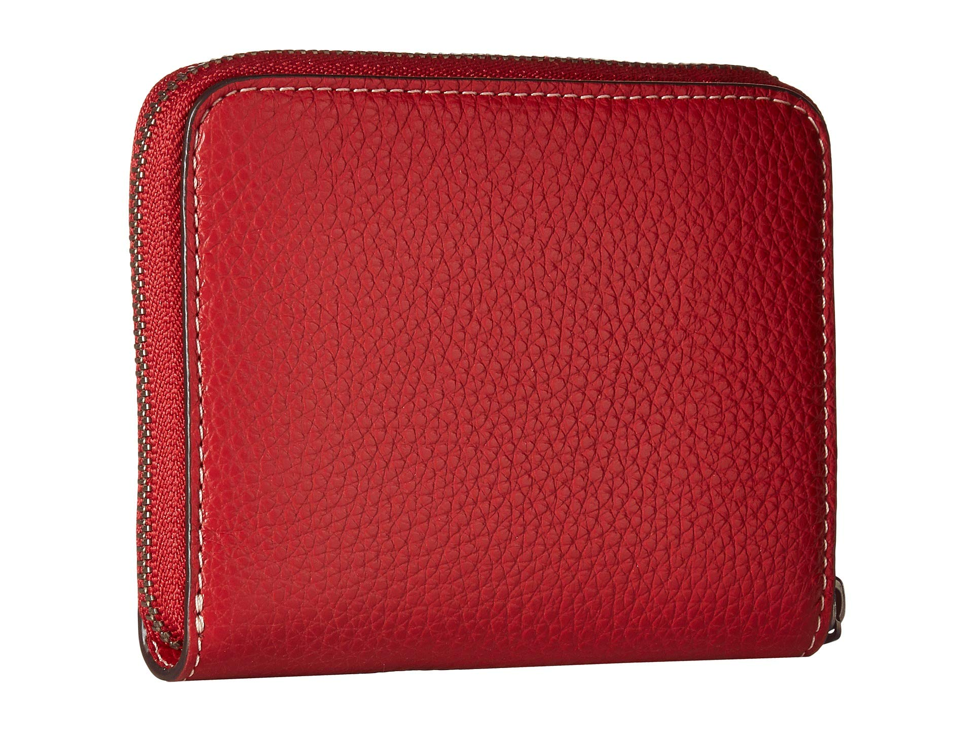 Coach Boxed Minnie Mouse Small Zip Around Leather Wallet – Red