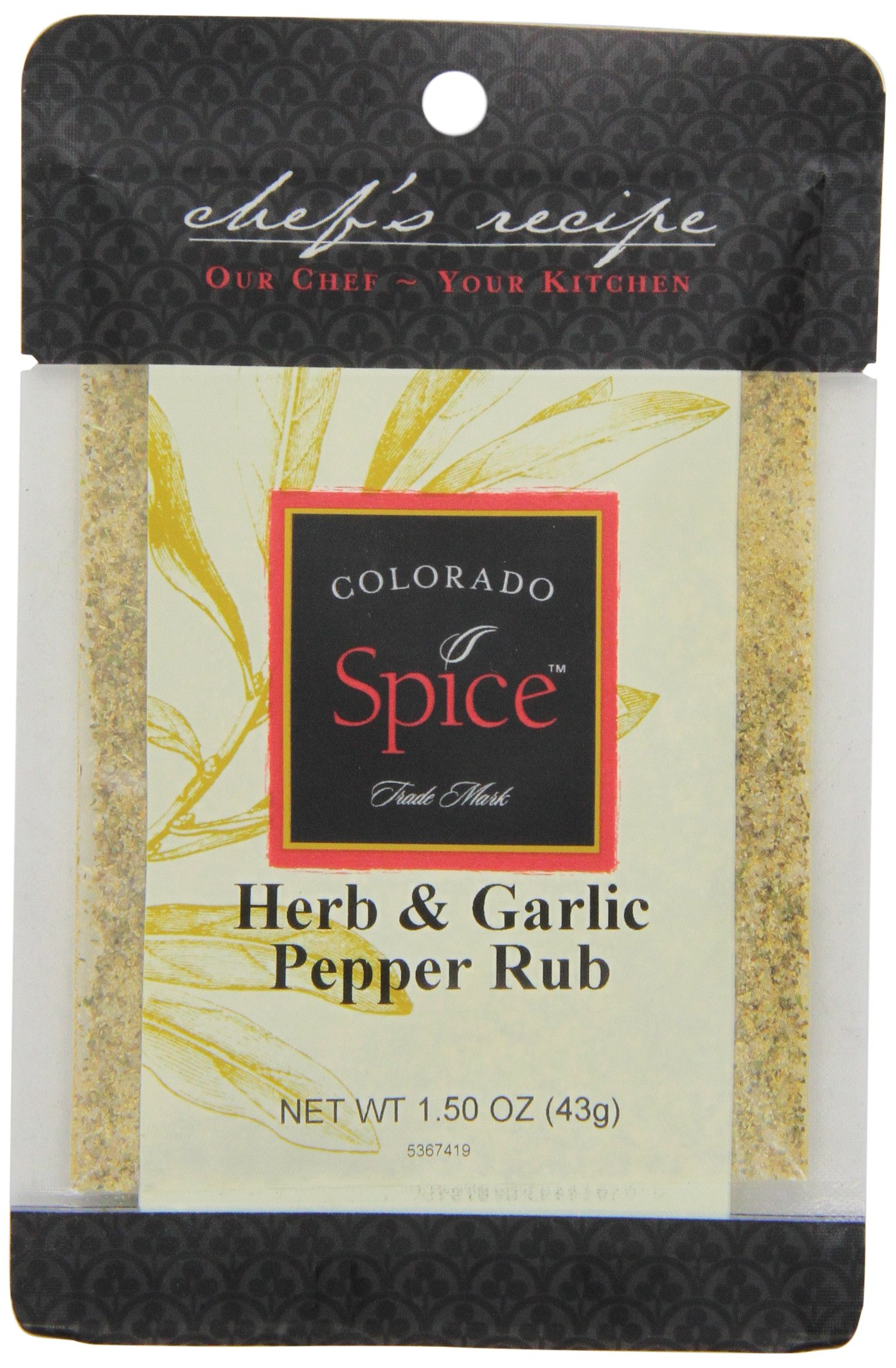 Colorado Spice Company, Rubs for any Occasion, Herb & Garlic Pepper Rub, 1.5-Ounce Packet (Pack of 12)