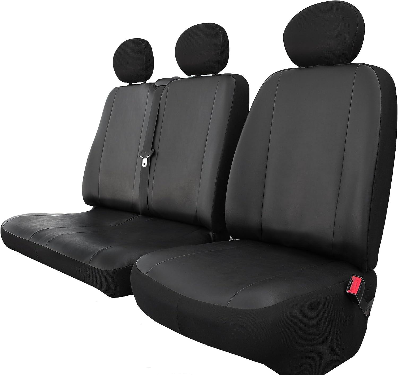 VW T5 Beifahrersitz Kunstleder schwarz Sitzbezug Schonbezug passform passgenau