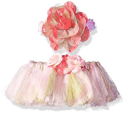 db7255426e Toby & Company Girls' Tutu & Flower Sequin Headband 2 Pc Set, Light Pink