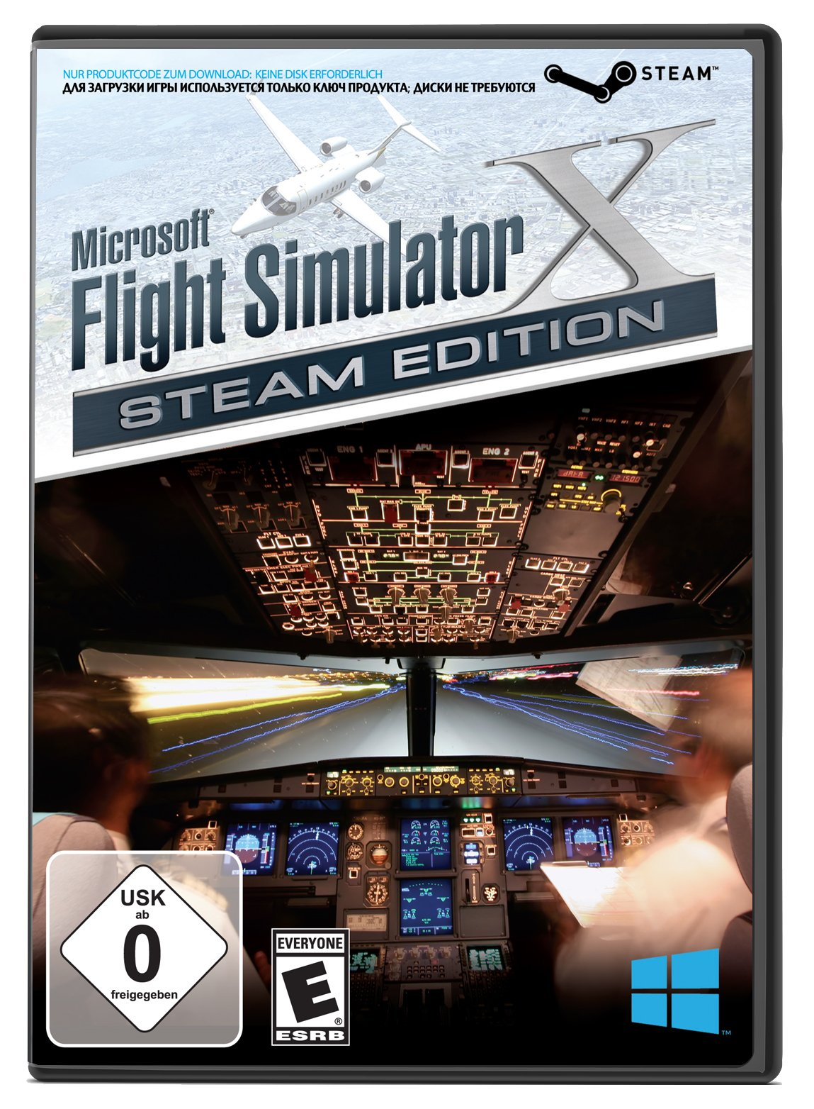Microsoft Flight Simulator X: Steam Edition for PC - Windows (select)(Boxed Steam Code)-Downloadable Product Code Only: No Disc Required by Mad Catz