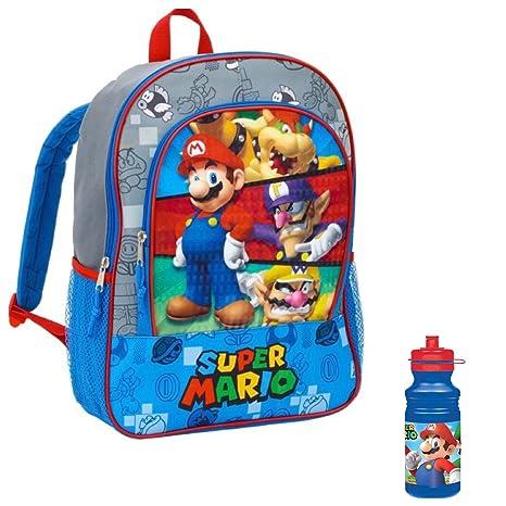 Juego de 2 – Póster de personajes de Super Mario Mochila – Juego de mochila y