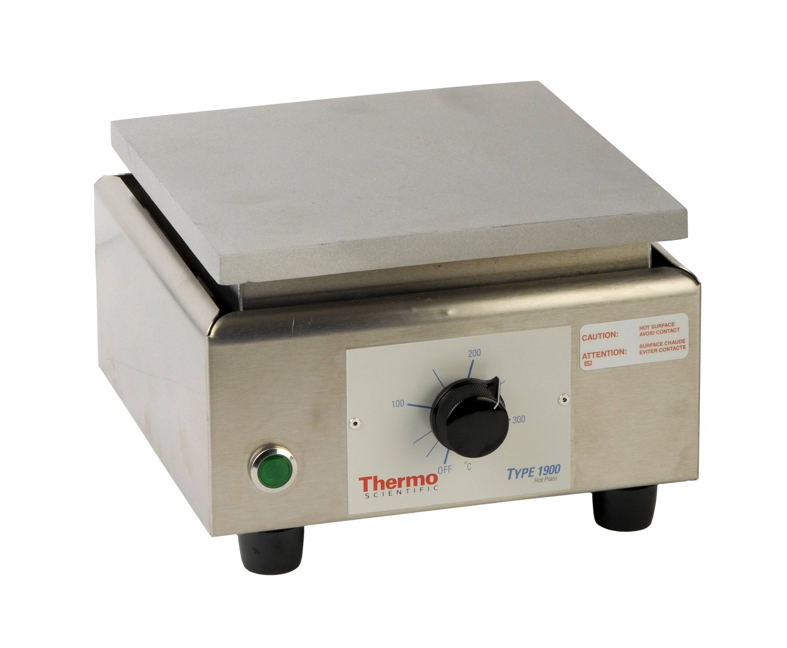 Thermo Scientific HPA1915BQ Analog Aluminum-Top Hot Plate with 6.25'' x 6.25'' Aluminum Heating Plate, 7.63'' Length x 6.63'' Width x 4.38'' Height, 38 to 371 Degree C, 120V/60Hz