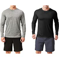 TEXFIT Men's 2-Pack Active Sport Long Sleeve Shirts with Quick Dry Fabric (2 pcs Set)