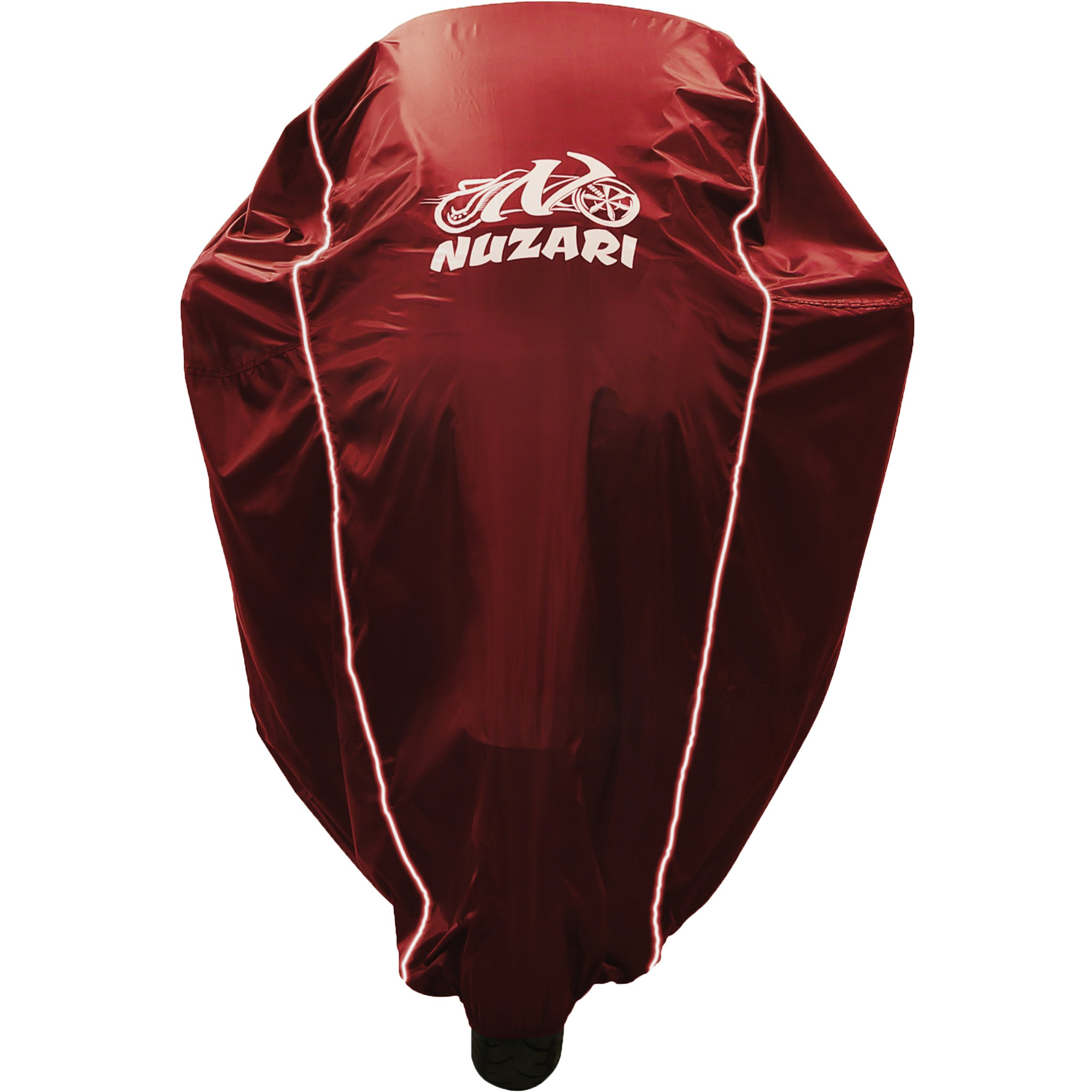 All Season Best Waterproof Motorcycle Cover With Improved Weather Protection, Windproof Buckle, Breathable Airvent, Winter Bike Storage & Bag 4 Sportbikes,Cruisers,Choppers,Touring,Honda Medium Red