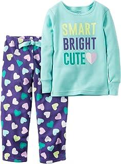 e71d979e3 Amazon.com: Carter's Girls' 12M-14 2 Piece Wake Me at Sunrise Pajama ...