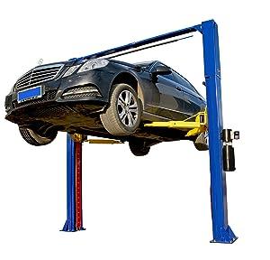 APlusLift HW-10KOH 10000LB Two Post Overhead Auto Hoist Clear Floor Car Lift / 12 Months Parts Warranty