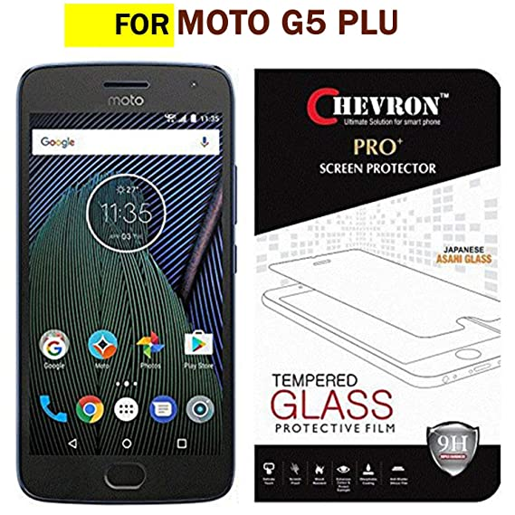Chevron Moto G5 Plus Tempered Glass