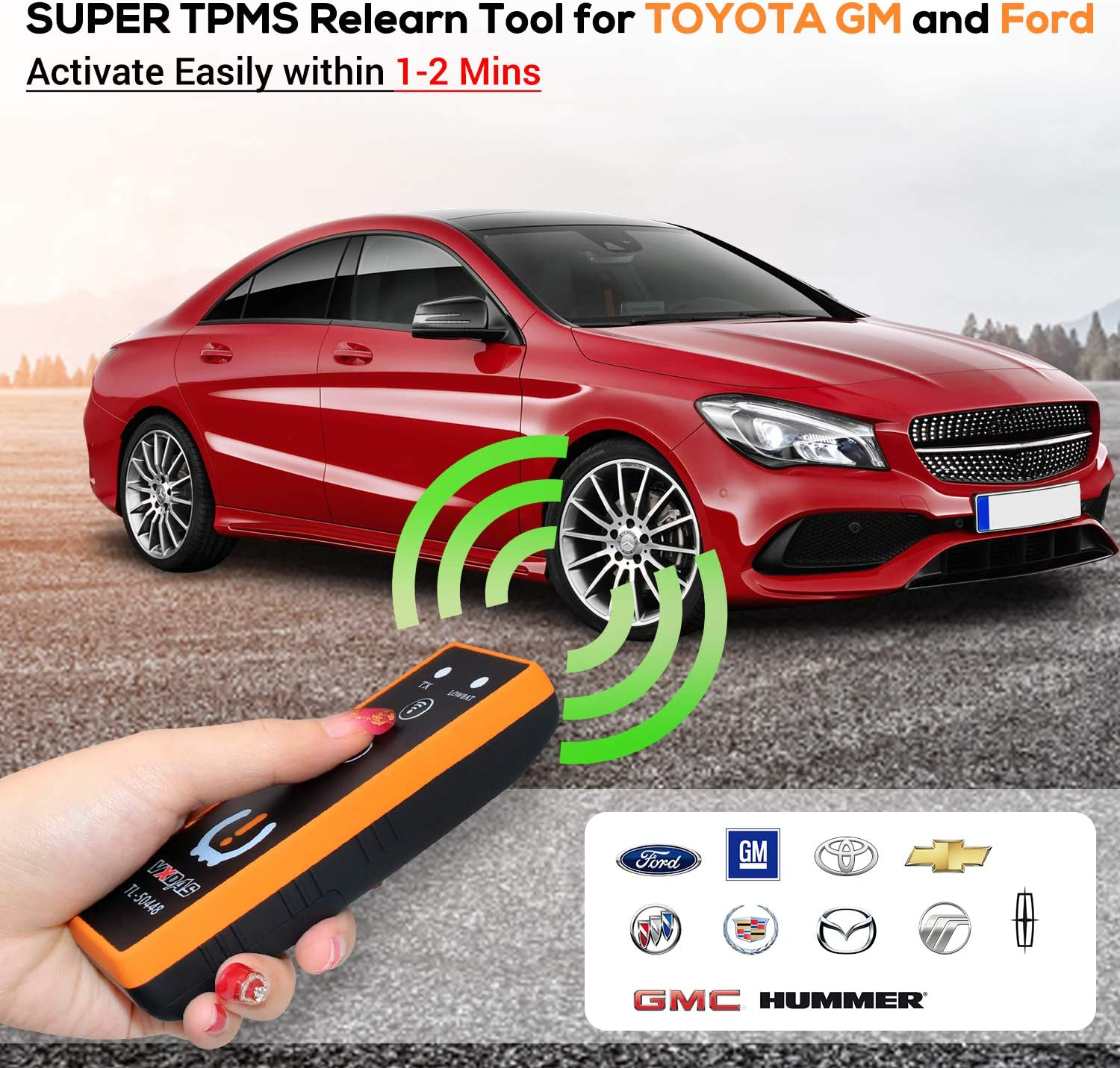 Arozk 3IN1 TPMS Relearn Reset Tool for Toyota GM Ford Tire Pressure Monitor Sensor Activation Super TL-50448 Auto TPMS Reset Tool 2020 Edition