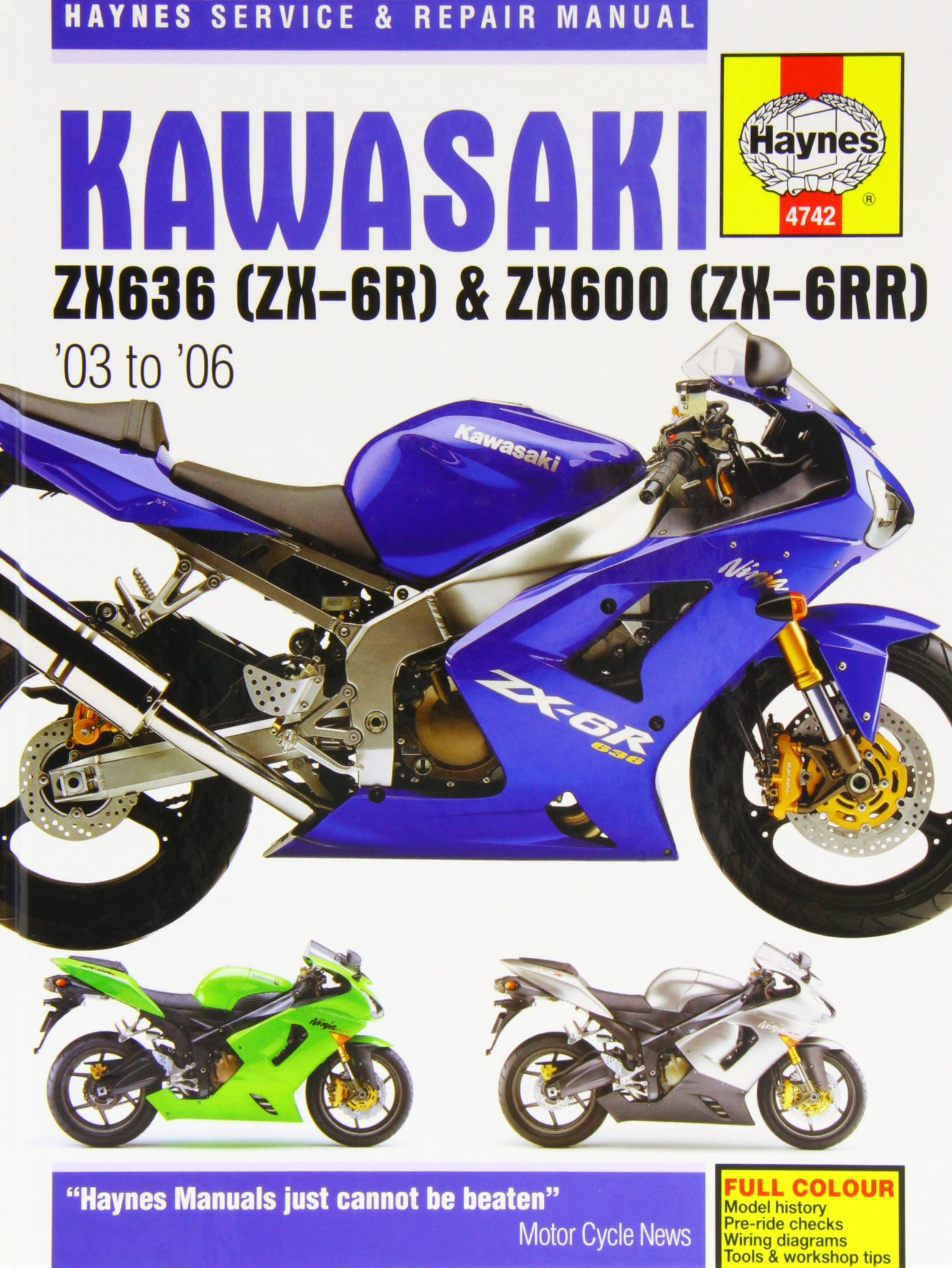 Kawasaki Zx 6r Service And Repair Manual 2003 To 2006 Haynes 2008 Zx6r Wiring Diagram Manuals Matthew Coombs 9781844257423 Books