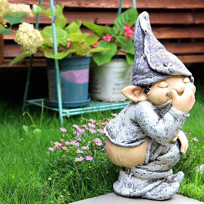 Wenini Bare Buttocks Garden Gnome Statue, Funny Lawn Decoration, Lawn Ornaments, Indoor or Outdoor Decorations