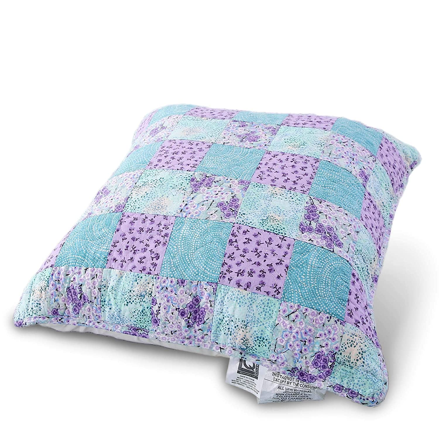 KASENTEX Luxurious Patchwork Bedspread Embroidery Coverlet 100/% Cotton Quilt Machine Washable Oversize Twin
