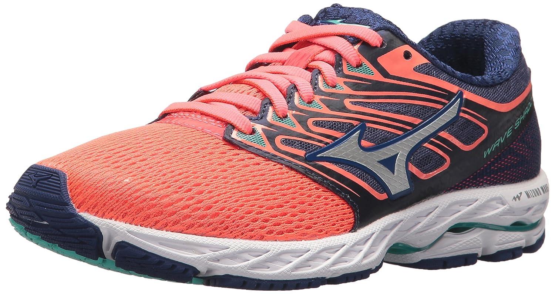 Mizuno Women's Wave Shadow Running Shoe B071KZK5MN 10 B(M) US|Fiery Coral/White