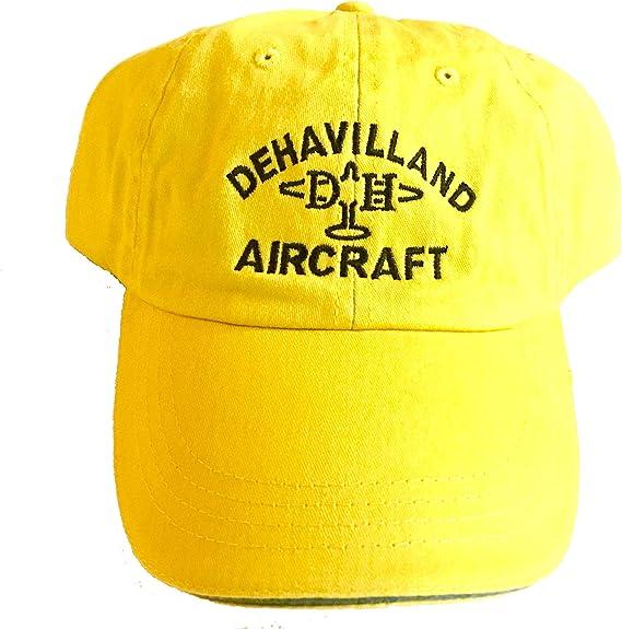Vintage DeHavilland Cap Yellow FREE SHIPPING