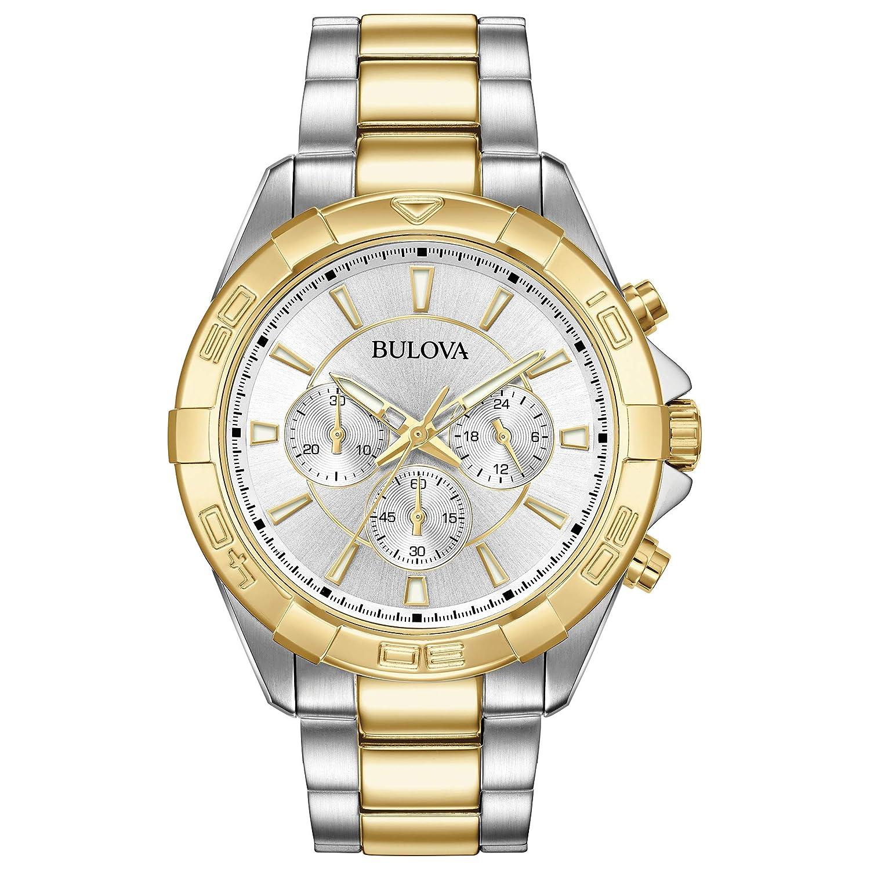 10f027d7d Amazon.com: Bulova Men's Watch Sports Two-Tone Chronograph Watch (Model:  98A221): Watches