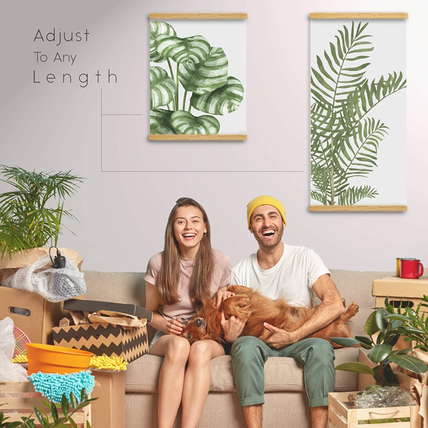 Poster Frame 12x18 12x36 12x16 by Magnetic Poster Hanger Wooden Dowel Hanger Scroll Get Creative Make Your Home Instantly More You Oak Light Wood 12 Inch