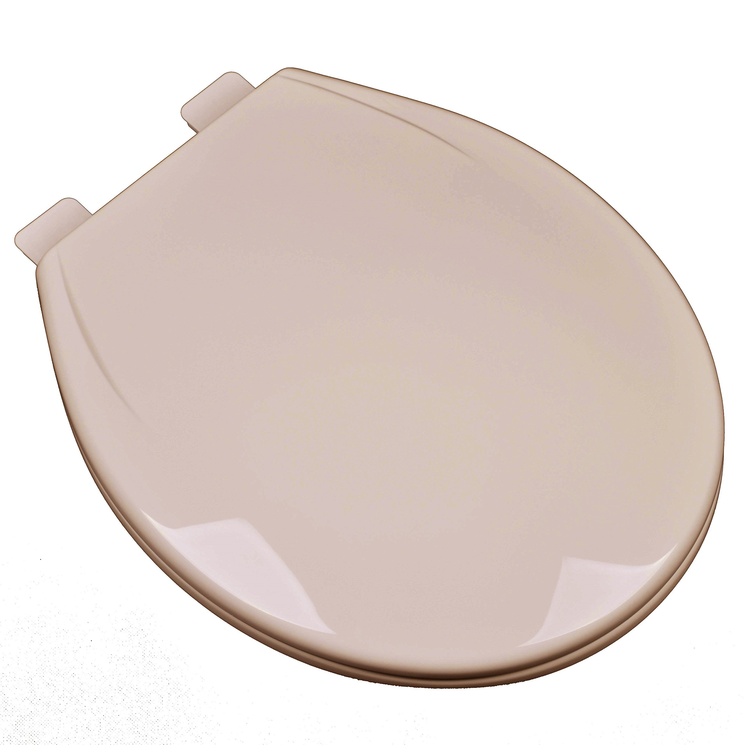 Bath Décor 2F1R6-30 Slow Close Plastic Round Top Mount Toilet Seat with Adjustable Release and Clean Hinge