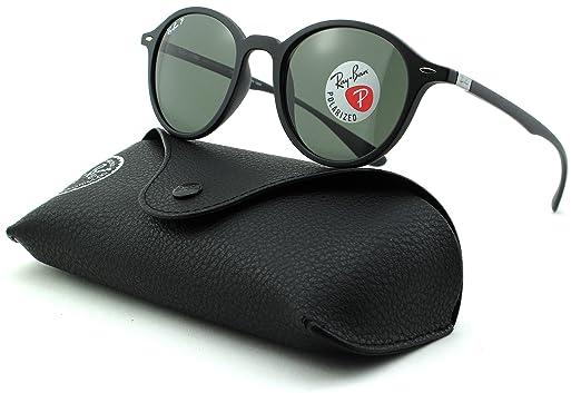 1f99e7675c Amazon.com  Ray-Ban RB4237 Unisex Polarized Round Sunglasses (Matte ...