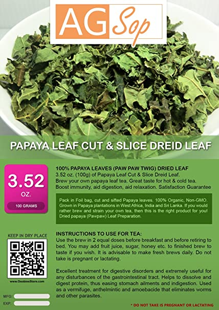 dried papaya leaves