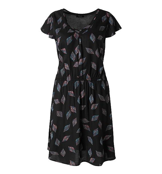 bene prezzo incredibile all'ingrosso online C&A - Vestito - Donna nero - giallo 40: Amazon.it: Abbigliamento