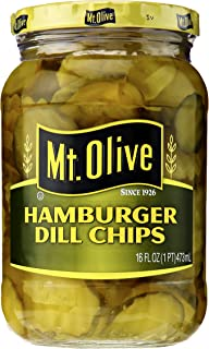 product image for Mt. Olive Hamburger Dill Chips Pickles, 16 oz