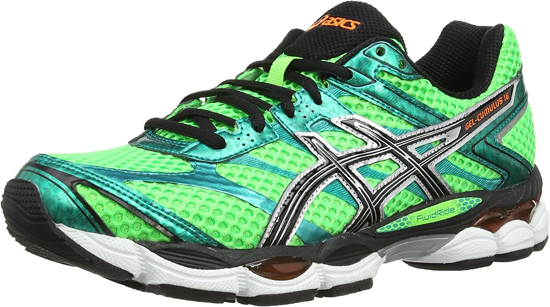 Asics Gel Cumulus 16 - Zapatillas de running para hombre, Verde (Black/White/Silver 9001), 40.5: Amazon.es: Zapatos y complementos