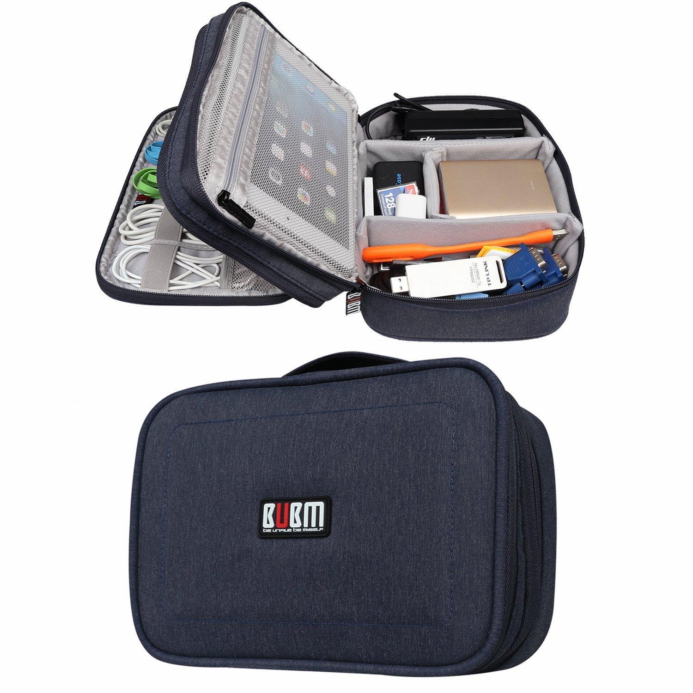 BUBM Travel Gadget Organizer Bag Digital Versatile Case Electronics Accessories Storage Bag (Blue,Small)